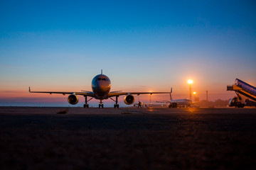 Early morning airport apron