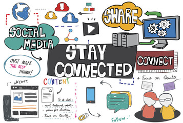 Stay Connected Network Online Technology Concept
