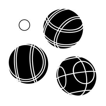 Bocce Balls flat Icon - white background