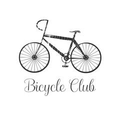 Bicycling vector design element, logo