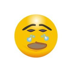 logo emotion eymbol cry