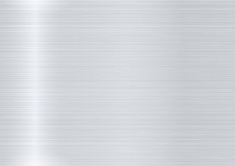 Metal background. Brushed metal. Vector Illustration.