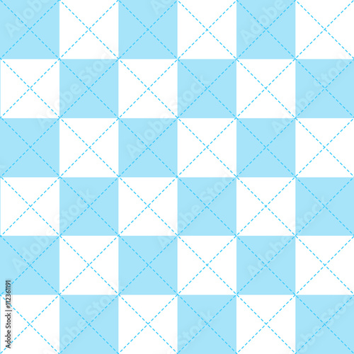 Blue White Chess Board Diamond Background Vector