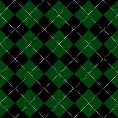 Green Black White Chess Board Diamond Background Vector Illustration