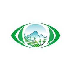 eye nature symbol vector