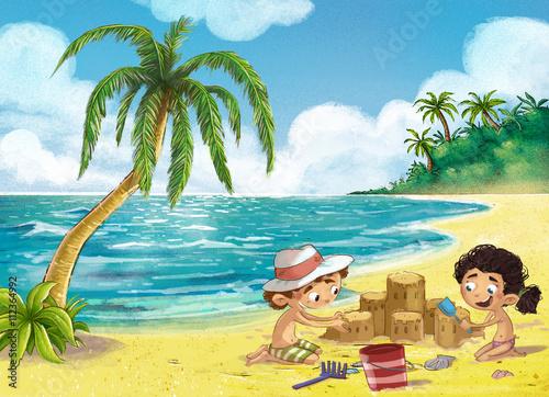 """""""niños Jugando En La Playa"""" Fotos De Archivo E Imágenes"""