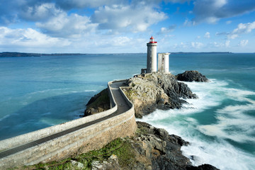 Foto auf AluDibond Kuste Phare du petit minou in Plouzane, Brittany, France