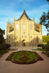Saint Barbara Church in Town of Kutna Hora, Bohemia
