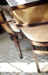 Spoed Foto op Canvas Thee Restaurant interior decoration details, closeup