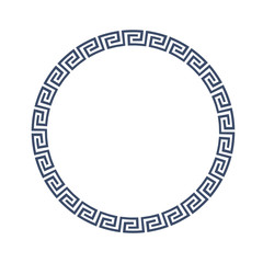 Round decorative frame for design in Greek style