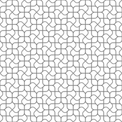 Abstract curved delicate geometric seamless pattern