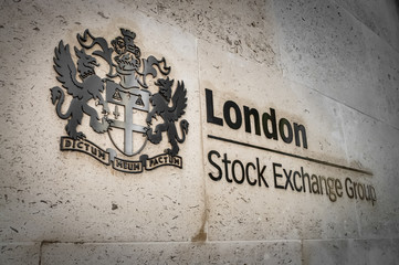 Garden Poster London London, UK - May 14, 2016: London Stock Exchange Group in financial district on May 14, 2016 in London, UK