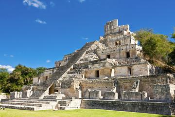 Famous Mayan city Edzna near by Campeche, Mexico
