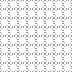 Simple geometric  seamless pattern in oriental style
