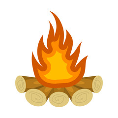 Bonfire colorful icon