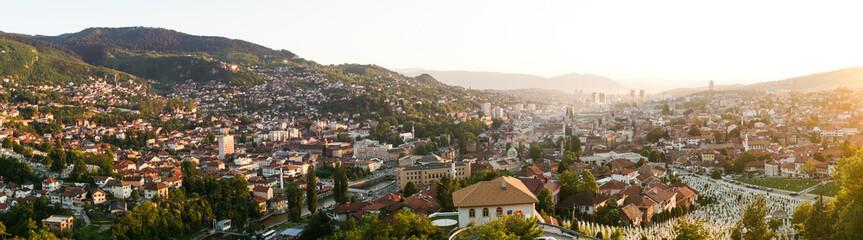 Sunset in Sarajevo, Bosnia and Herzegovina