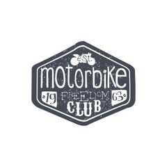 Motorbike Club Vintage Plate