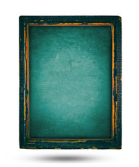 wooden frame isolated on white background, Old wooden, grunge wooden, vintage tone of wooden background.