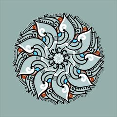 Vector ornamental Mandala set. Round pattern. Circle  Tattoo.