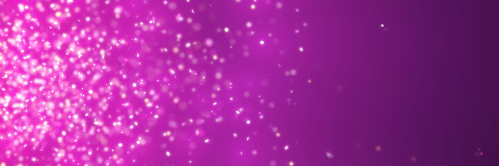 bright glittery lights fly in front of a background in shades of pink and purple