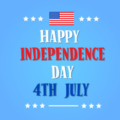Happy Independence Day United States American Holiday Banner