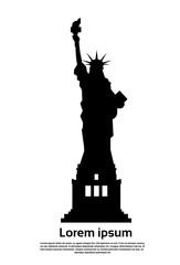 Liberty Statue Silhouette United States Symbol