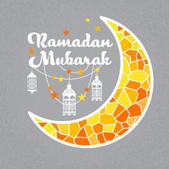 Ramadan Mubarak Islamic Holiday Moon