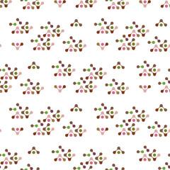 multicolor molecules seamless pattern vector eps10