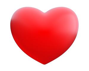 Herz Liebe und weiße Hintergrund