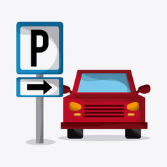 Parking lot design. Park icon. White background  , vector graphic