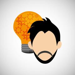 Idea design business concept. Colorful illustration , vector graphic