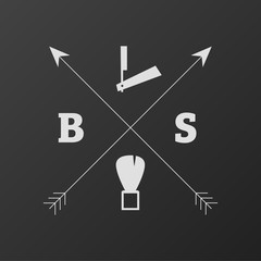 Barber Shop Logo Arrow Cross