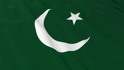 Pakistani Flag HD Background - Flag of Pakistan 3D Illustration
