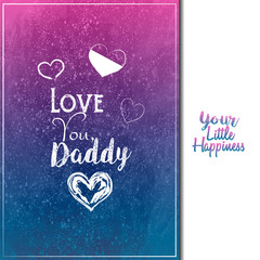 Father's Day. Greeting card. Vector illustration, eps10