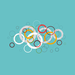 Vector circles background, soap and water