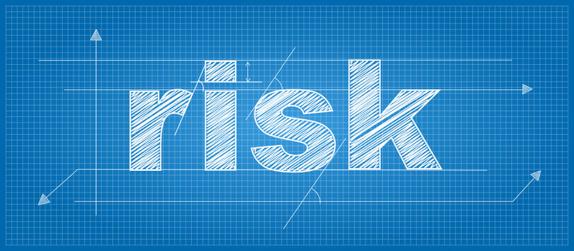 RISK Vector Technical Lettering Icon