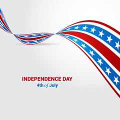American Independence Day flag background