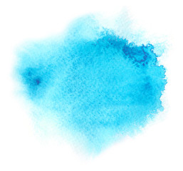 blue water color background with paint blotchiness