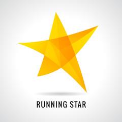 Running star logo