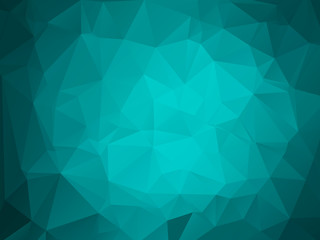 Colorful polygon background or vector frame. Abstract Triangle Geometrical Background, Vector Illustration EPS10. Geometric design for business presentations. teal aqua blue