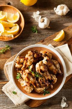 Grilled Lemon Garlic Chicken Wings