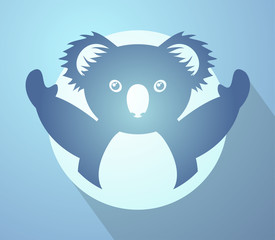 imaginative funny koala icon
