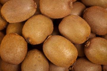Whole Kiwi Fruit. Selective focus.