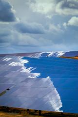 Panels of solar batteries.