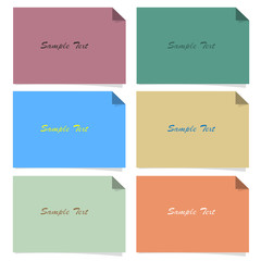 Set of simple paper banners