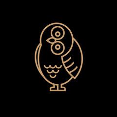 Vector cute owl icon