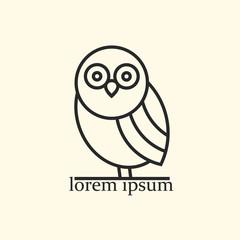 Vector owl icon - emblem