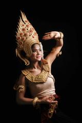 Apsara dancing portrait