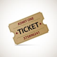 Realistic icon cinema ticket. Stock vector