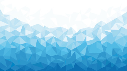 Ice Polygonal Mosaic Background 16:9